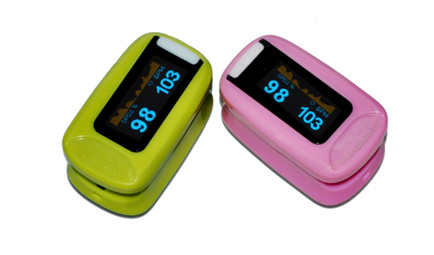 Color OLED Fingertip Pulse Oximeter Auto Direction