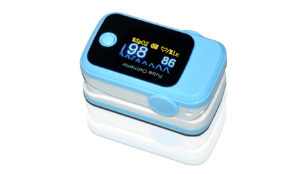 Color OLED Fingertip Pulse Oximeter Voice Alarm